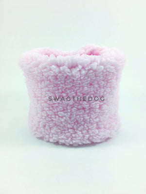 Pink Unicorn Swagsnood - Product Front View. Pink Sherpa Side