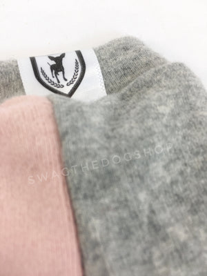 Pink and Gray Centerfield Tees T-Shirt - Close Up of Label View. Pink and Gray T-Shirt