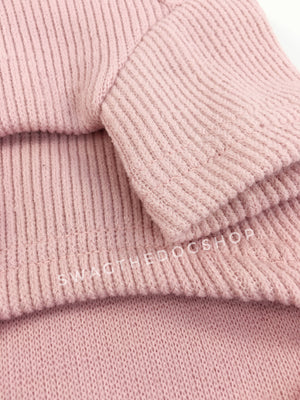 Pink Bunny Hoodie - Close Up of Sleeve View. Pink Bunny Hoodie with Pom Pom Tail