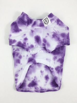 Swagadelic Purple Tie Dye Tee - Product front view. The hand tie-dyed tee with Purple