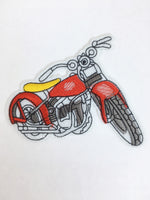 Patch Add-On of Motorcycle. Red and Yellow Motorcycle Patch