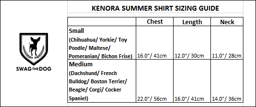 Kenora Summer Shirt - Sizing Guide. Black and Red Gingham Shirt