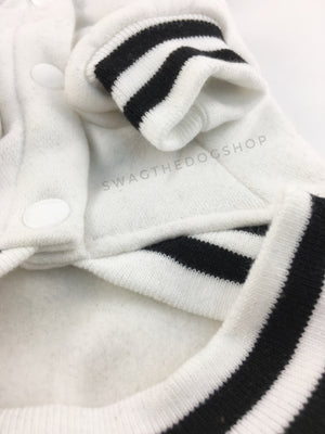 Parklife Black and White Sports Hoodie - Close Up View of Sleeve. Black and White Sports Hoodie