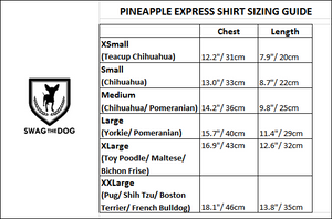 Pineapple Express Shirt - Sizing Guide. Pineapple Print Shirt
