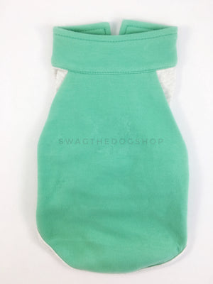 Surfside Emerald Green Polo Shirt - Product Back View. Emerald Green with Light Gray Sleeves Polo Shirt