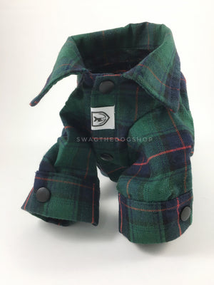 True North Green Plaid Shirt - Product Upright Front View. Green Plaid Shirt