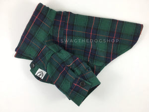 True North Green Plaid Shirt - Product Side View. Green Plaid Shirt