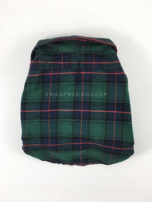 True North Green Plaid Shirt - Product Back View. Green Plaid Shirt