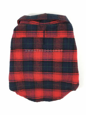 True North Red Plaid Shirt - Product Back View. Red Plaid Shirt