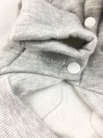 Yachtsman Heather Gray Shirt - Close Up View of Sleeve. Heather Gray Shirt with Fleece Inside