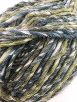 Galaxy Sparkle Swagsnood - Close Up of Yarn View. Spectrum of Green Color Dog Snood with Accent Button