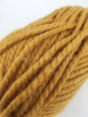 Mustard Yellow Swagsnood - Close Up of Yarn View. Mustard Yellow Color Dog Snood with Accent Button