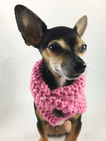 Pink Enough Swagsnood - Close Up View of Cute Chihuahua Dog Wearing Pink Color Dog Snood with Accent Button
