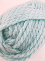 Turquoise Swagsnood - Close Up of Yarn View. Turquoise Color Alpaca Yarn Dog Snood with Accent Button
