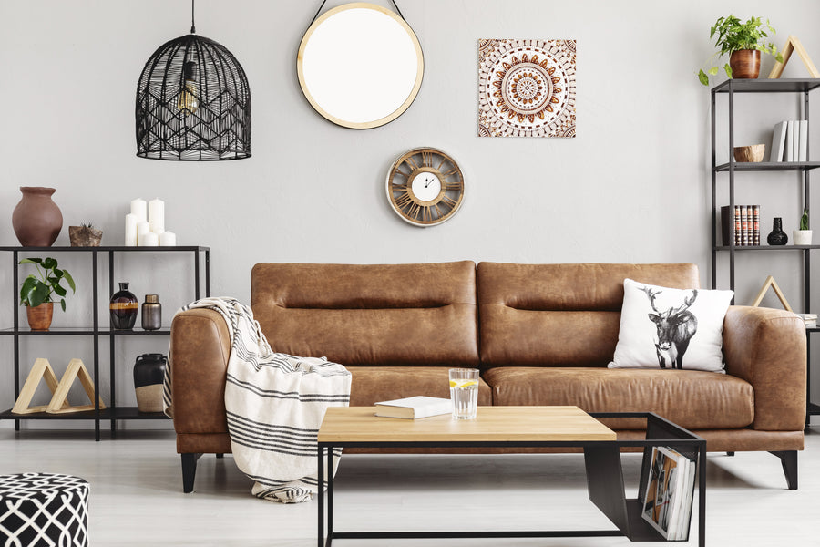 6 Leather Family Room Furniture Ideas