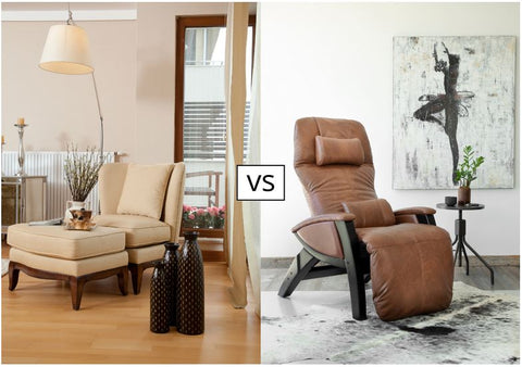 a lounger and recliner chair