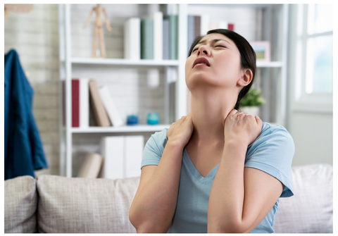 a woman suffering from chronic pain