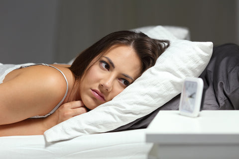 girl needing to learn how to treat insomnia at home
