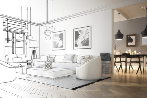 interior design drawing for different design styles