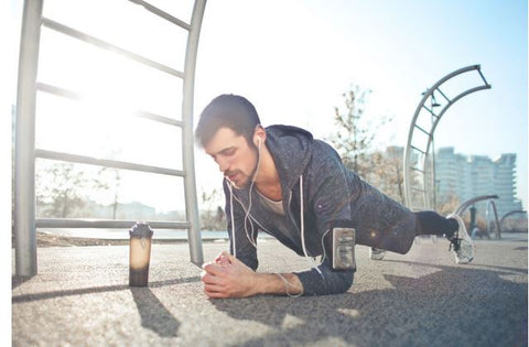 man stretching before a work out