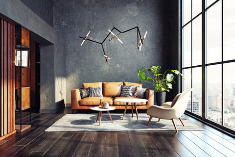 modern living room with chair