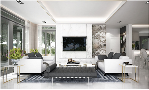 modern living room with quality furniture that will last