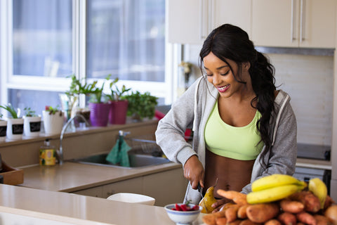 woman with fruit for how to improve your health