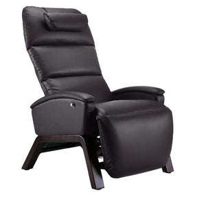 SVAGO Lite Best Zero Gravity Recliner Upright in Brown with Dark Wood Base