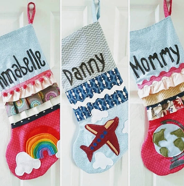 Custom Hand Made Personalized Christmas Stocking