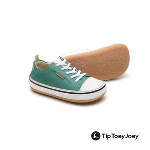 Tip Toey Joey Funky Green Leaf/ White