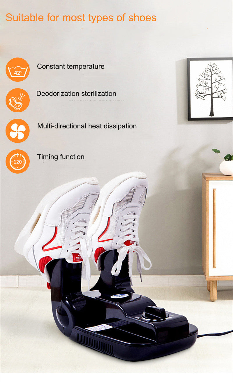 Electric Boot Dryer Timing Warmer Shoe Heater Eliminate Odor Mold Bacteria BROWN
