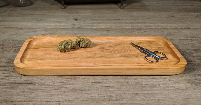 Cherry Cannabis Rolling Tray (Long) - 3/4