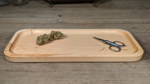 "Hard Maple Cannabis Rolling Tray (Long) - 3/4"" x 5"" x 12 1/2"""