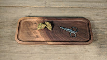 "Load image into Gallery viewer, Walnut Cannabis Rolling Tray (Long) - 3/4"" x 5"" x 12 1/2"""