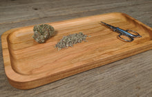 "Load image into Gallery viewer, Cherry Cannabis Rolling Tray- 3/4"" x 5"" x 10 1/2"""