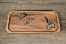 "Load image into Gallery viewer, Walnut Cannabis Rolling Tray - 3/4"" x 5"" x 10 1/2"""