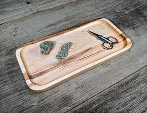 "Hard Maple Cannabis Rolling Tray - 3/4"" x 5"" x 10 1/2"""