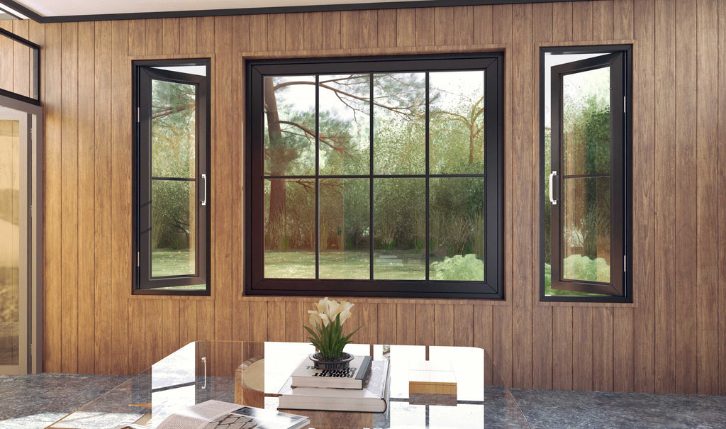 window, high-end window, open window, fixed window, many sizes, regal, elegant, polished, sleek