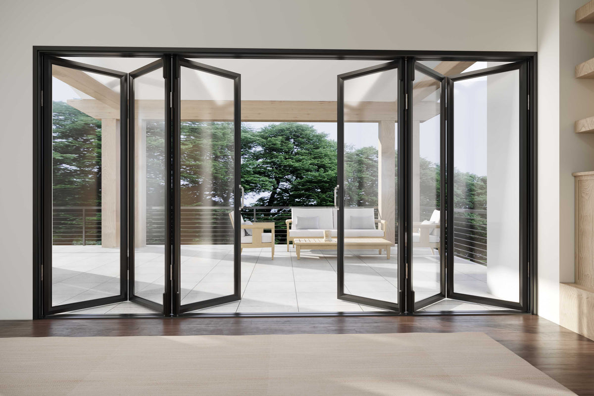 multi-folding door, folding door, high-end door, many sizes, eclectic, fashionable, classic, timeless, modern