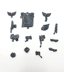 Blood Angel Tactical Squad Banner & Accessory Bits - Warhammer 40k Space Marine
