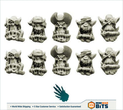 Bulky Freebooters Orcs Heads Bits