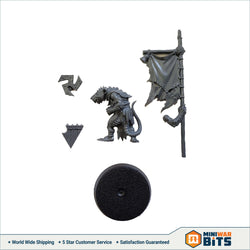 Clanrat Standard Bearer Single Figure Bits