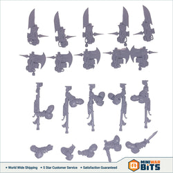 Custodian Wardens Arms & Guardian Spear / Castellan Axe Bits