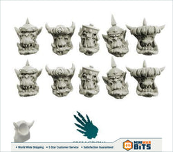 Orcs Armoured Heads Bits