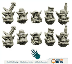 Steampunk Orcs Heads Bits