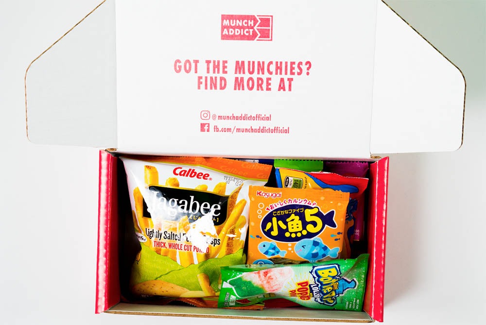 Inside a Munch Addict Snack Box