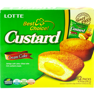 Lotte Custard Cream Cakes