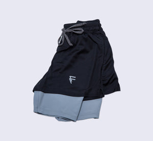 Purpose Shorts - Black - Flat Lay
