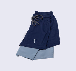 Purpose Shorts - Navy - Flat Lay