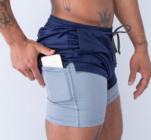 Purpose Shorts - Navy - Feature
